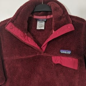 Patagonia synchilla fleece 1/4 button up jacket